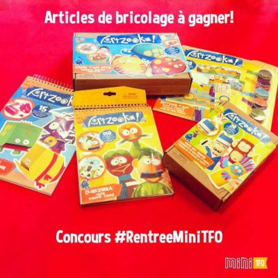 Kids books, arts and crafts articles to win for a Mini TFO contest