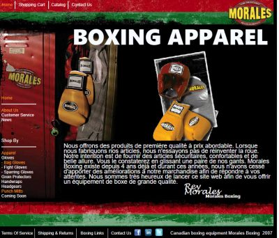 Boxing apparel from Morales Boxing. The owner Rey Morales guaranties quality material at an affordable rate.
