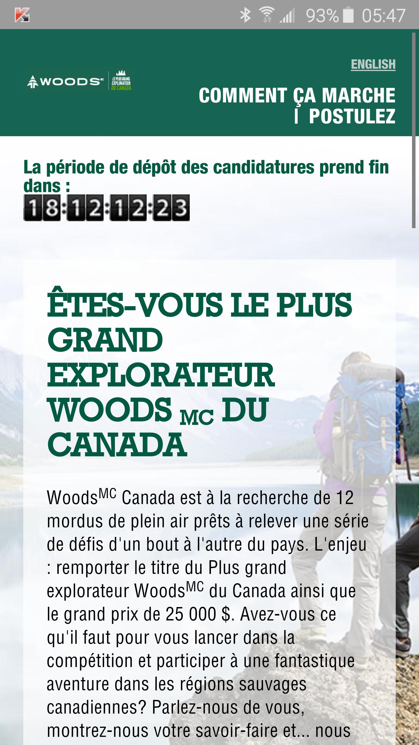 Woods contest : êtes-vous le plus grand explorateur Woods du Canada?